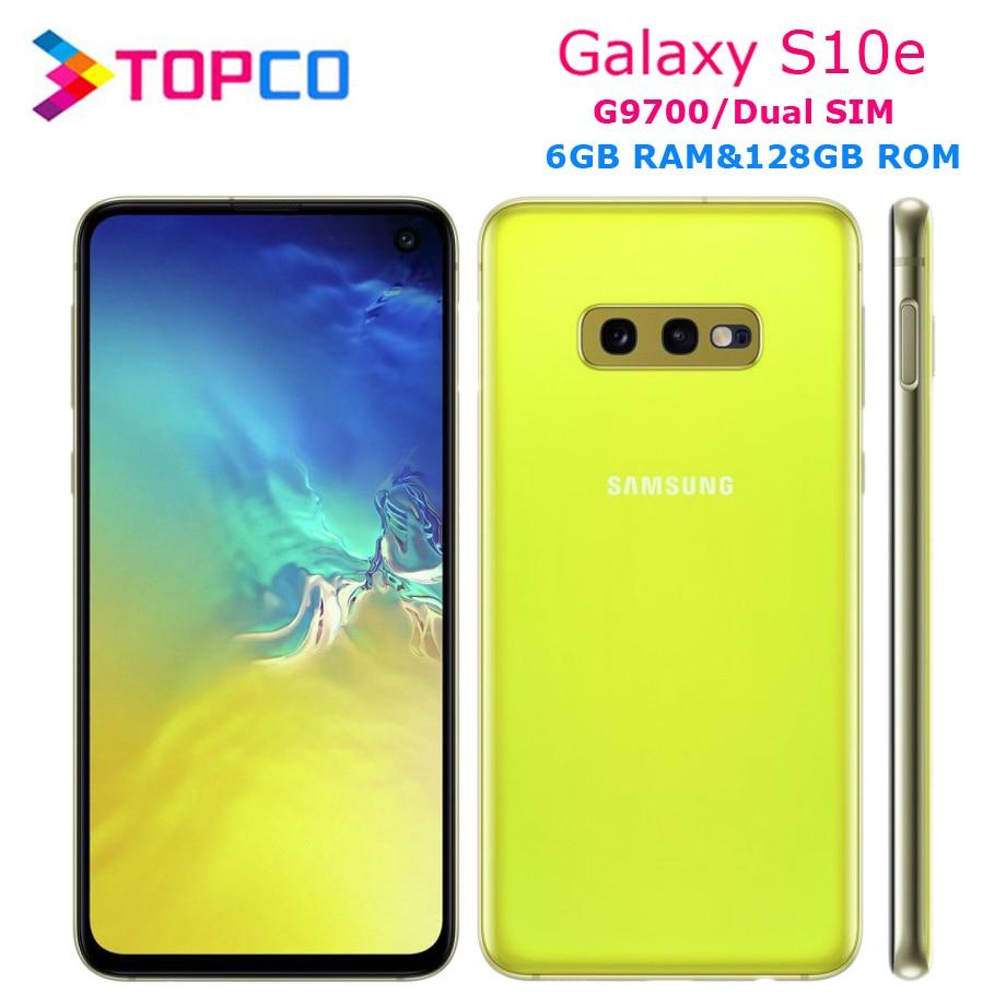 Оригинальный разблокированный Samsung Galaxy S10e G9700, LTE, Android, двойная Sim-карта, Восьмиядерный процессор Qualcomm, 5,8 дюйма, 16 МП и 12 МП, 6 ГБ ОЗУ, NFC