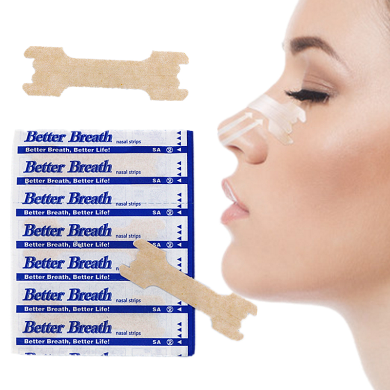 100pcs/lot Large (66x19mm) Tan Nasal Strips For Better Sleep, Better Breath And Reduce Snore Nasal Patch