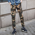 brand clothing spring small leg new fashion casual boy khaki long pencil pants trousers men joggers camouflage pants fashion