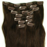 8PCS 1518202224Clip In Full Head 100% Real Remy Human Hair Extensions