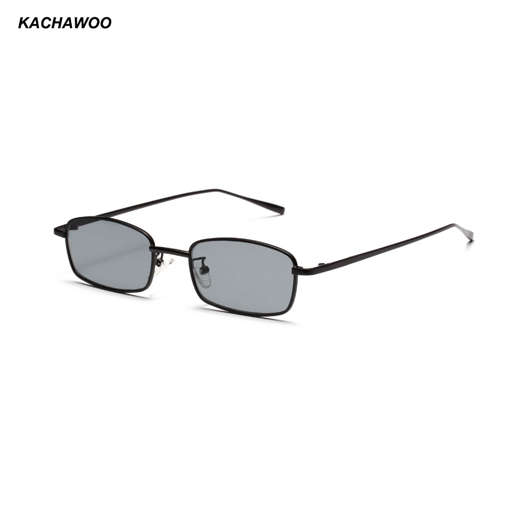 43cda888dcc Kachawoo rectangular fashion sunglasses men retro metal frame black men  small sun glasses women summer beach