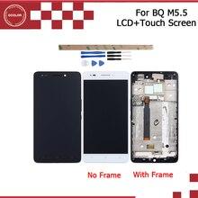 ЖК дисплей и сенсорный экран ocolor для BQ Aquaris M5.5 с рамкой в сборе, запасная часть 5,5 дюйма, Аксессуары для мобильных телефонов + Инструменты + клей