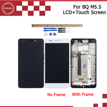 """ocolor For BQ Aquaris M5.5 LCD Display And Touch Screen With Frame Assembly Repair Part 5.5"""" Mobile Accessories+Tools + Adhesive"""
