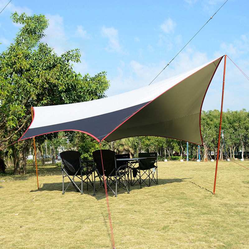 Portable Lightweight Waterproof Rain Tarp Ultralight SunShelter Camping Mat  Beach Tent Pergola Awning Canopy Camping Sun