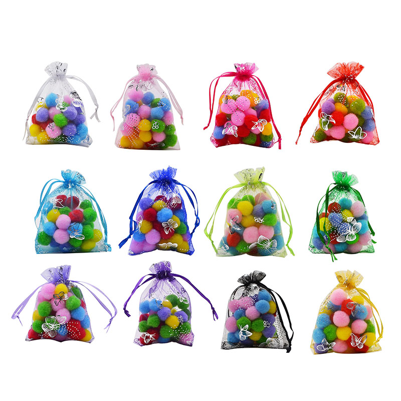 20P 7x9 9x12 11x16 13x18 15x20cm Drawable Organza Jewelry Packaging Bags Wedding Party Decoration Favors Gift Candy Bags Pouches in Gift Bags Wrapping Supplies from Home Garden