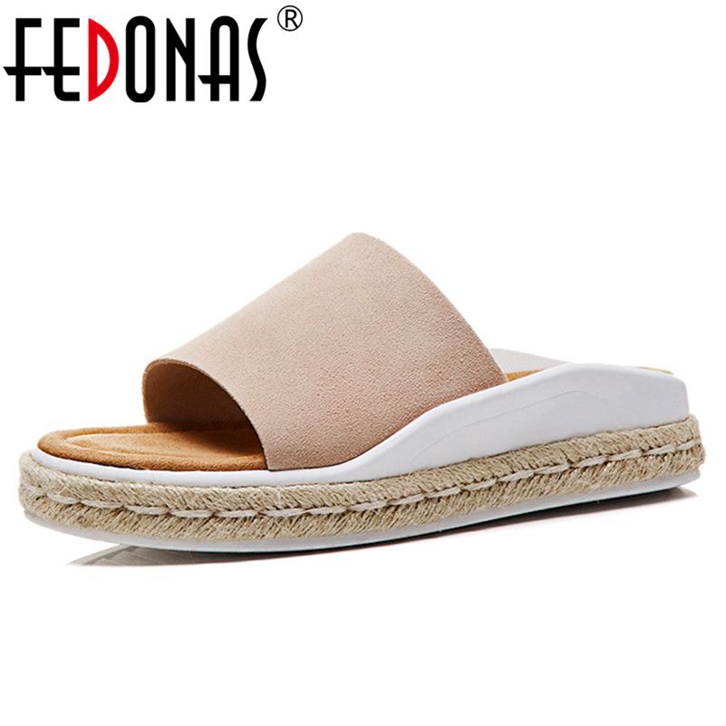 FEDONAS Brand Summer Women Sandals Open Toe Flip Flops Womens Flat Sandles Fashion Comfort Slippers Female Rome Style Sandals