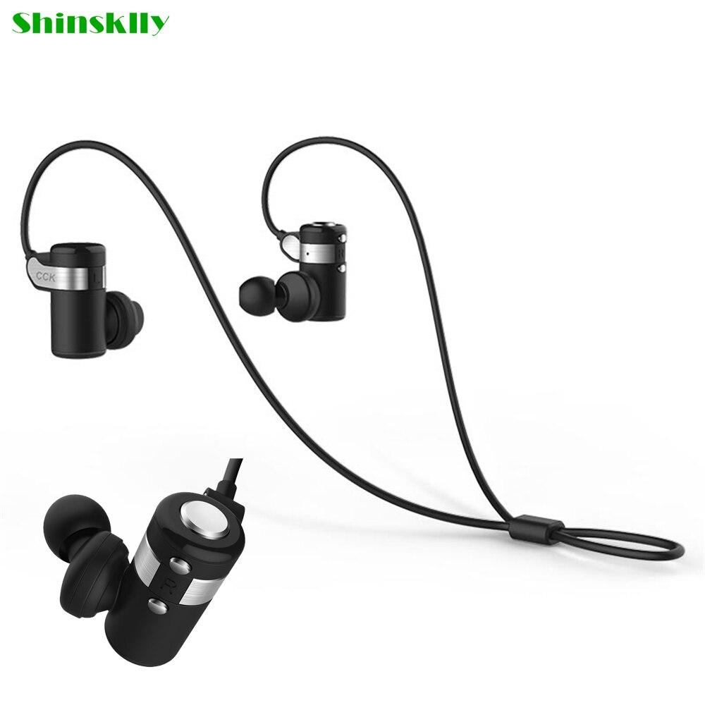 ShinskllyKS Wireless Bluetooth Earphone in ear Hifi Sweatproof Sports Earbud Running stereo Headphone font b handfree