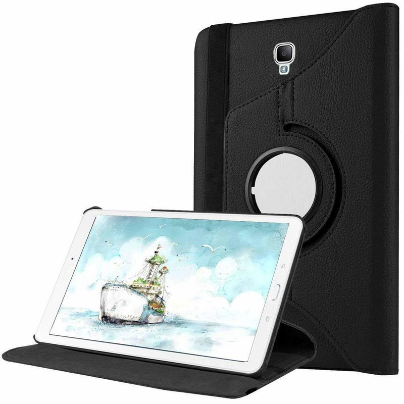 Tab A 8.0 2017 T380 360 Degree Rotating Leather Flip Cover Case For Samsung Galaxy Tab A 8.0 2017 SM-T380 SM-T385 Tablet Glass