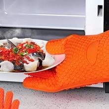 Guantes antideslizantes Guantes de Cocina de Silicona Accesorios de Cocina Comedor Utensilios Para Hornear Suministros Equipo de Aislamiento Resistente Material Del Producto