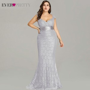 Image 4 - Vestidos De Fiesta 2020 Immer Ziemlich Neue Elegante Meerjungfrau V ausschnitt Ärmellose Spitze Prom Kleider Plus Größe Party Kleid Robe de Soiree
