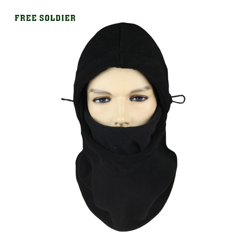 FREE SOLDIER cap outdoor wigs ride cap multifunctional thermal pocket hat cap face mask leather hat male leather flat cap autumn winter warm peaked cap