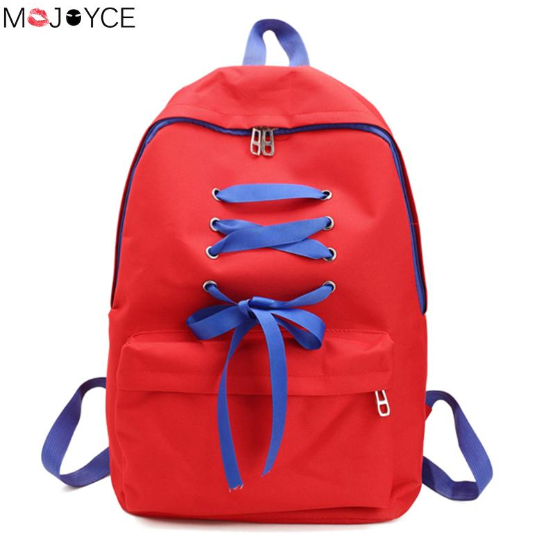 Canvas Backpacks For Teenage Girls Small Drawstring Backpack For Teenage Sac A Dos Solid School Rucksacks