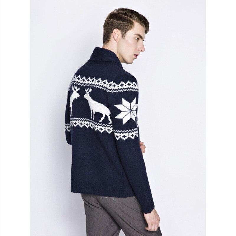 Tejer Navidad hombres suéter cardigan moda de manga larga Navidad ...