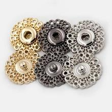10 шт. Цветочные кнопки металлические швейные ремесла одежда кнопки для пряжки пальто невидимые пряжки застежка