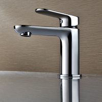Basin Faucets Vanity Deck Mounted Bathroom Sink Hot And Cold Water Mixer Taps With Chrome Plated