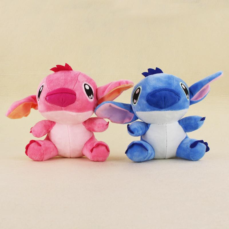 2 colors 18cm Kawaii Lion And Stitch Plush Toys Anime Lilo And Stitch Soft Stuffed Animal