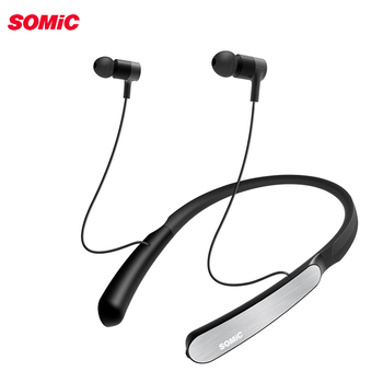 Somic SC1000 Sports Bluetooth earphone with active noise cancelling Neckband Wireless earphones Headset for phones and music