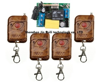 AC 220V 1CH RF wireless remote control switch system 4 *Transmitter & 1* Receiver (mini receiver PCB size :44*30*20mm)