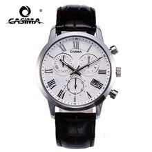 Men waterproof watch Quartz business watches casual dress leather wristwatches Military clock relogio masculino CASIMA #5120