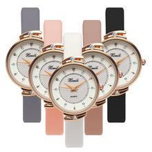 6169d08a237 2018 Moda Feminina Relógios Cinta Fina de Quartzo Das Senhoras do Relógio  das Mulheres Relógio Ocasional