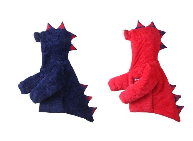 High quality New Boys Winter Coat Fashion Cartoon dinosaur Solid Red Blue Kids Wool Coats Jacket Boys Children Outerwear
