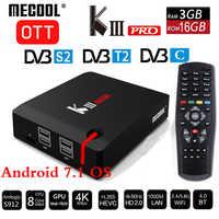 MECOOL KIII PRO DVB-S2 DVB-T2 DVB-C Decoder Android 7.1 TV Box 3GB 16GB K3 Pro Amlogic S912 Octa Core 64bit 4K Combo Set top box