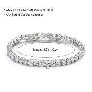 Image 2 - 925 Sterling Silver Cụm Vòng AAA CZ Zironia Tennis Vòng Tay Pulseras Pulseira Bracelete Phụ Nữ Jewelry Cô Gái Món Quà Của Bạn