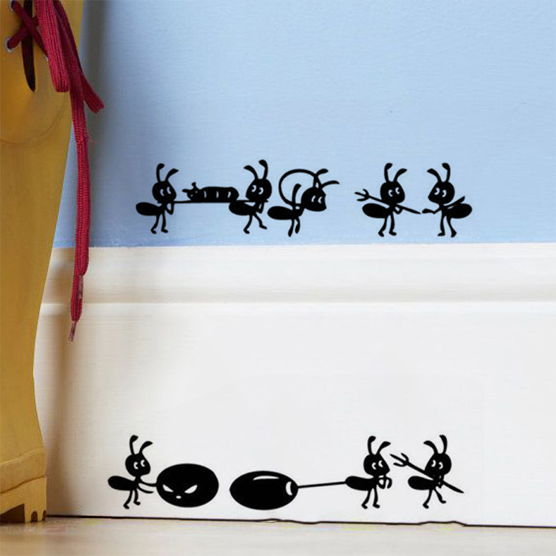 Home Dcor 1 Pc Cartoon Black Ants Move Wall Sticker For ...
