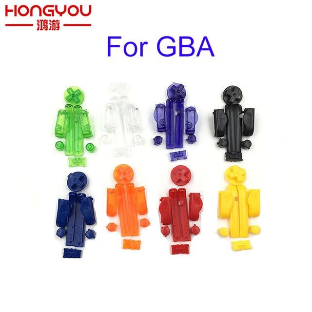 10 комплектов, сменные кнопки A B L R, левые и правые кнопки, кнопки для Gameboy Advance, кнопки, рамка для GBA