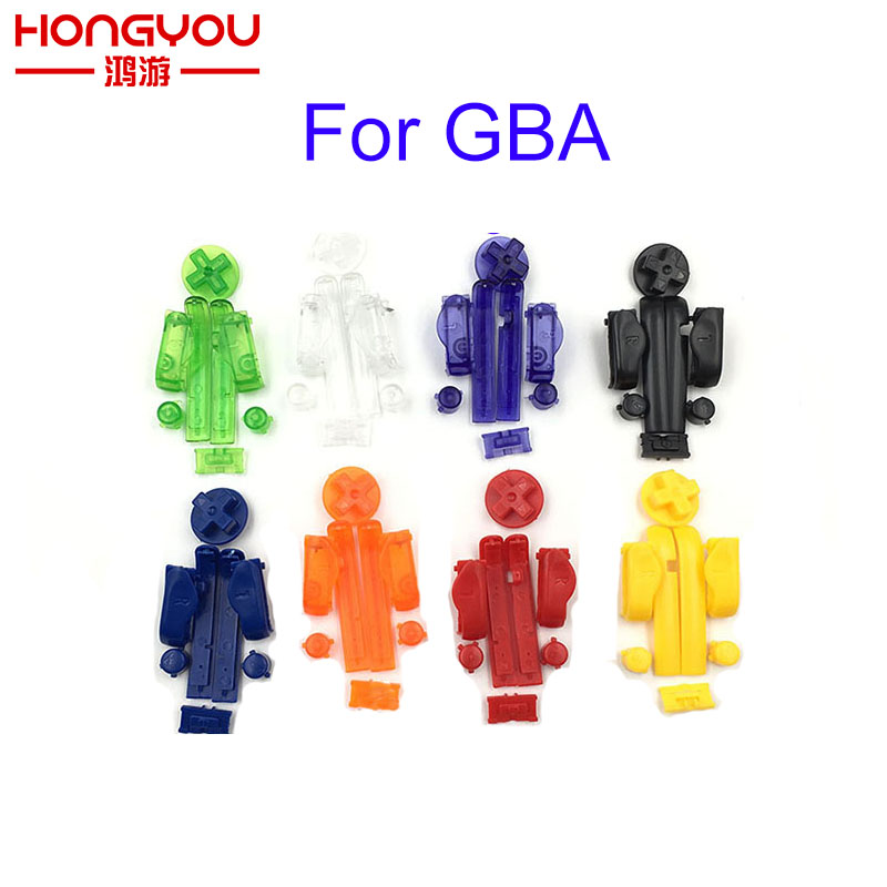 10SETS Replacement A B L R Left Right Buttons Keypads Buttons For Gameboy Advance Buttons Frame For GBA
