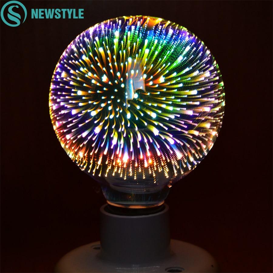 Led Light Bulb 3D Decoration Bulb E27 5W 7W AC85-265V Holiday Lights G80 G125 Novelty ChristmasLamp Lamparas