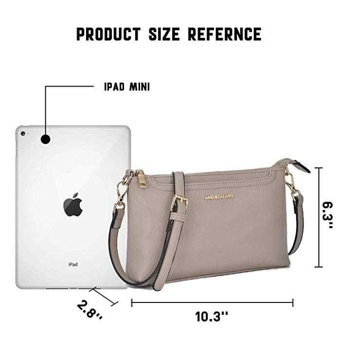 AMELIE GALANTI роскошные кожаные женские сумки, мини сумки через плечо для женщин, сумки для телефона, мягкие однотонные женс