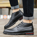 JARLIF Hot Sale Mens Casual Shoes Leisure Outdoor Breathable PU Leather Men High help Shoes zapatos hombre Red Blue