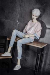 Image 1 - BJD doll clothes wear holes torn holes jeans pants 2 colors 1/3 1/4 BJD DD SD MSD YOSD Uncle doll size doll accessories