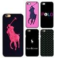 2016 nuevas rayas de polo ralph laurens case cubierta del teléfono celular de plástico duro para apple iphone 4s 5s 5c 6 s 6 6 s plus 7 7 plus