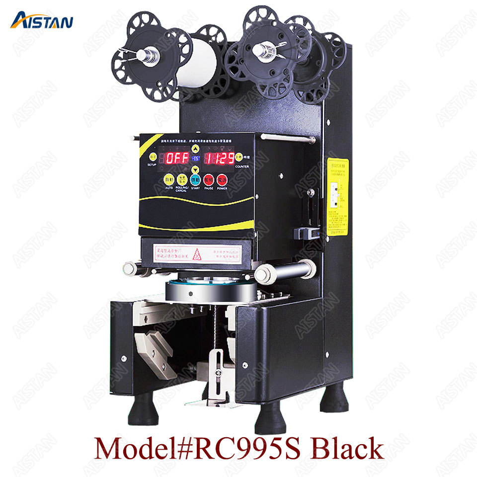 RC995S  Pre-painted commercial automatic cup sealing machine for bar and milk tea shopRC995S  Pre-painted commercial automatic cup sealing machine for bar and milk tea shop