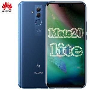 Image 1 - Huawei Mate 20 Lite Maimang 7 Мобильный телефон 6,3 дюйма 6 ГБ ОЗУ 64 Гб ПЗУ Kirin 710 OctaCore 2340x1080 Android 8,1 3750 мАч