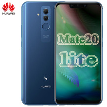 Küresel Rom Huawei Mate 20 Lite Maimang 7 cep telefonu 6.3 inç 6GB RAM 64GB ROM Kirin 710 octa çekirdek 2340x1080 Android 8.1 3750mAh