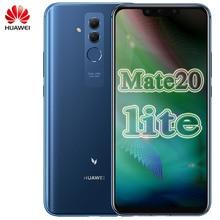 Téléphone portable mondial Huawei Mate 20 Lite Maimang 7 6.3 pouces 6 go RAM 64 go Rom Kirin 710 OctaCore 2340x1080 Android 8.1 3750mAh