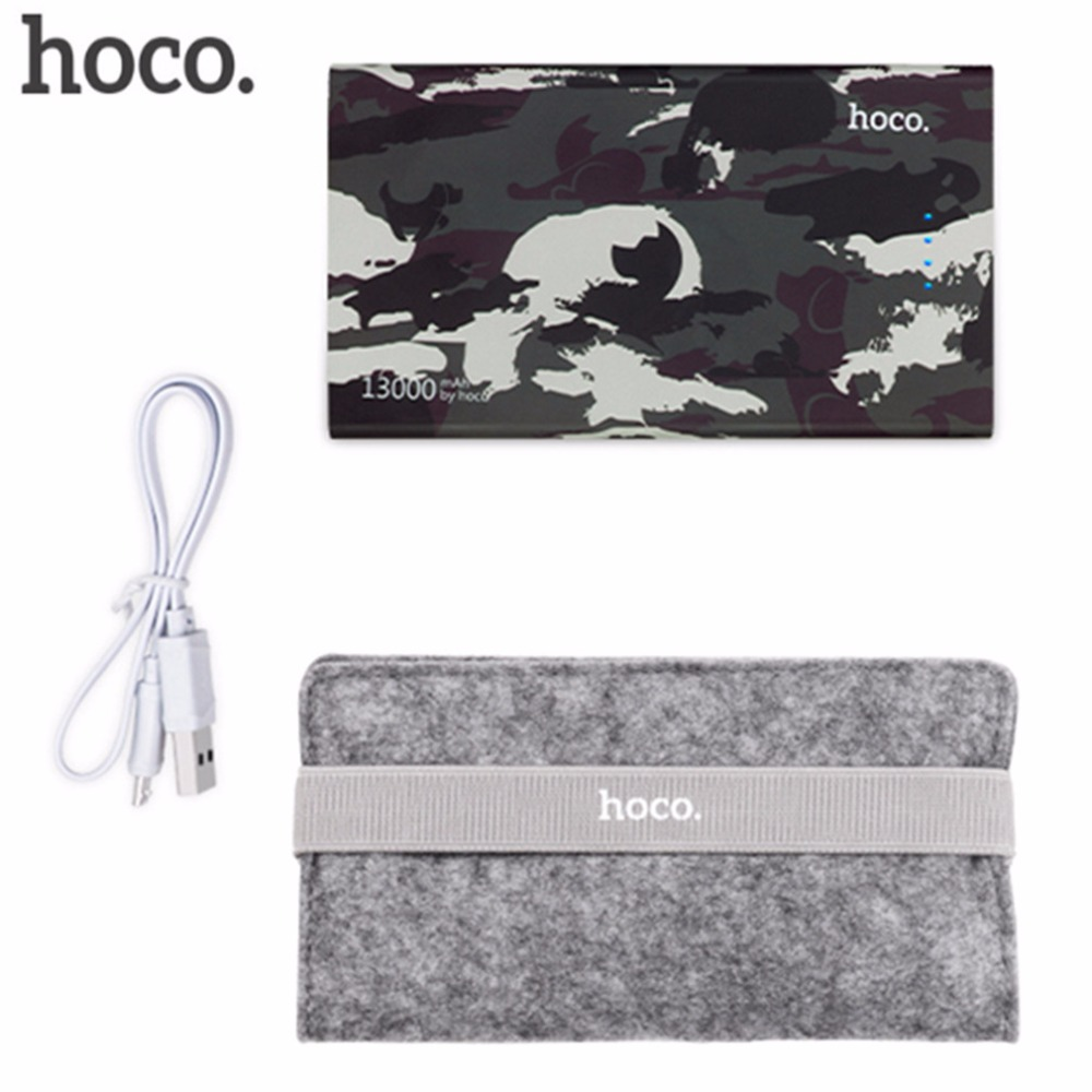 bilder für Original HOCO 13000 mAh Camouflage Cookie Bewegliche Energienbank Tragbares Ladegerät Mobile Stromversorgung Batterie-Backup Ladegerät Geburtstagsgeschenk