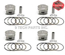 4 Sets GSXR-250 GSF 250 KATANA 250 BANDIT 250 72A 73A 74A 913 PISTON KIT with Piston RINGS STANDARD Size 49mm(China)