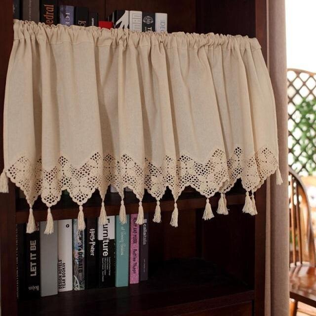 Senisaihon американский хлопок белье Half-Шторы модные вязаный крючком Шторы с небольшой Шторы шторы для Кухня кабинет