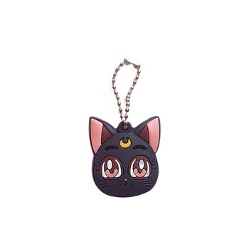 Anime Sailor Moon Luna Purple Cat Keychain  1