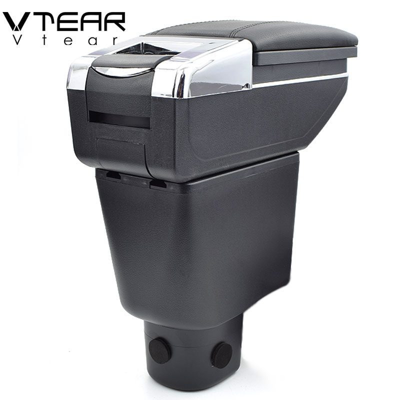 Vtear For Honda Brio armrest box central Store content box cup holder ashtray interior car styling