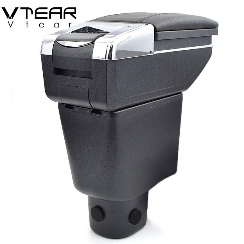 Vtear Per Honda Brio box bracciolo centrale casella dei contenuti Negozio di supporto di tazza posacenere interni auto-styling accessorio della decorazione 14 -18