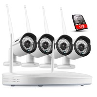 ANNKE Plug Play Wireless 4CH CCTV Camera System P2P Wireless NVR IP Camera 960P Outdoor Bullet