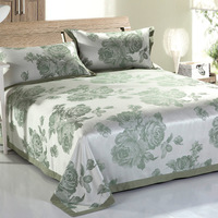 3pcs Flat Sheet Set 100 Bamboo Fiber Jacquard Bedding Sets Include 1bed Sheet 2pillowcases Sheets Set
