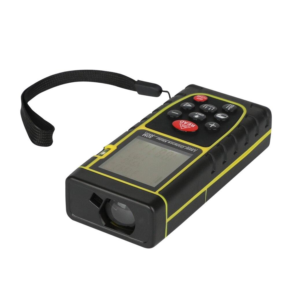Le plus idéal 80 M laser distance mètre numérique laser mesure distance altimètre télémètre chasse pour la décoration de la maison etc.