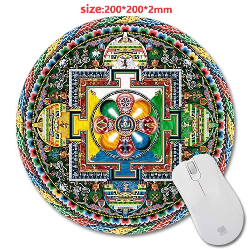 wholesale custom designed mouse pad with mandala pattern fashion