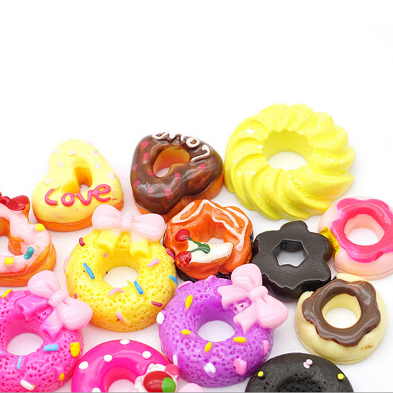 10 шт. Смола мини кукла Пончик торт миниатюры еды кукольный домик кухонная мебель аксессуары ролевые игры для Барби-игрушка